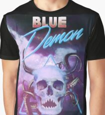 Sinister Grin Press Blue Demon Graphic T-Shirt