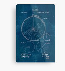 Old blueprint diagrams wall art redbubble blueprint penny farthing patent metal print malvernweather Gallery