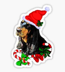 Black and Tan Coonhound Christmas Gifts Sticker