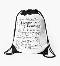 Mochila de cuerdas Alexander Hamilton Scroll
