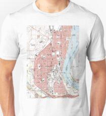 Richland Washington Map (1992)  T-Shirt
