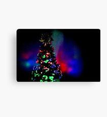 Christmas Night Tree Canvas Print