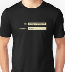 Email to current events (light letters) T-Shirt