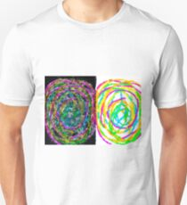 colorful circle pattern drawing abstract with black and white background T-Shirt
