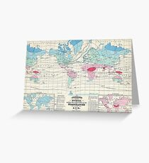 Vintage World Climate Map (1870) Greeting Card