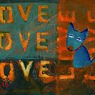 Project 321 - Love Sign and a Blue Dog by cehouston