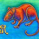 Colorful Chinese Zodiac Animals Year of the Rat  by Rebecca Wang