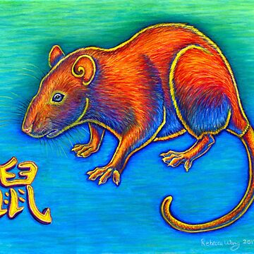 Colorful Chinese Zodiac Animals Year of the Rat  by lioncrusher