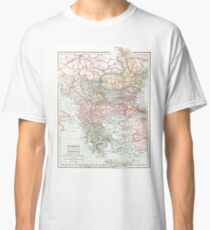 Vintage Map of Greece and Turkey Classic T-Shirt