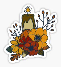 Autumn Nr.1 - Candle and Bouquet Sticker