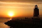 Summer Sunset -- Charlevoix, Michigan by John Carpenter