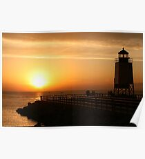 Summer Sunset -- Charlevoix, Michigan Poster