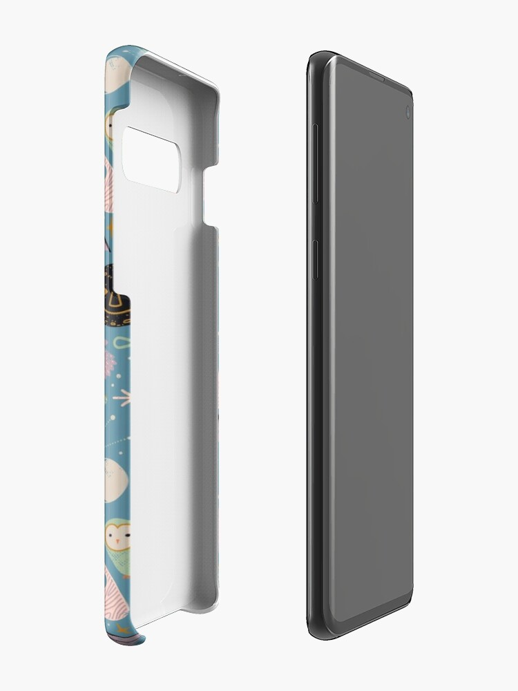 Alternate view of Lunar Pattern: Blue Moon Cases & Skins for Samsung Galaxy
