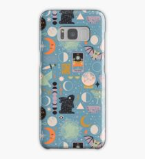 Lunar Pattern: Blue Moon Samsung Galaxy Case/Skin