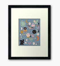 Mondmuster: Blauer Mond Gerahmter Kunstdruck