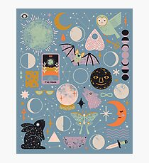 Lunar Pattern: Blue Moon Photographic Print