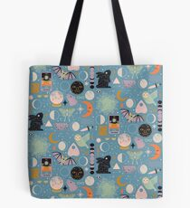 Lunar Pattern: Blue Moon Tote Bag
