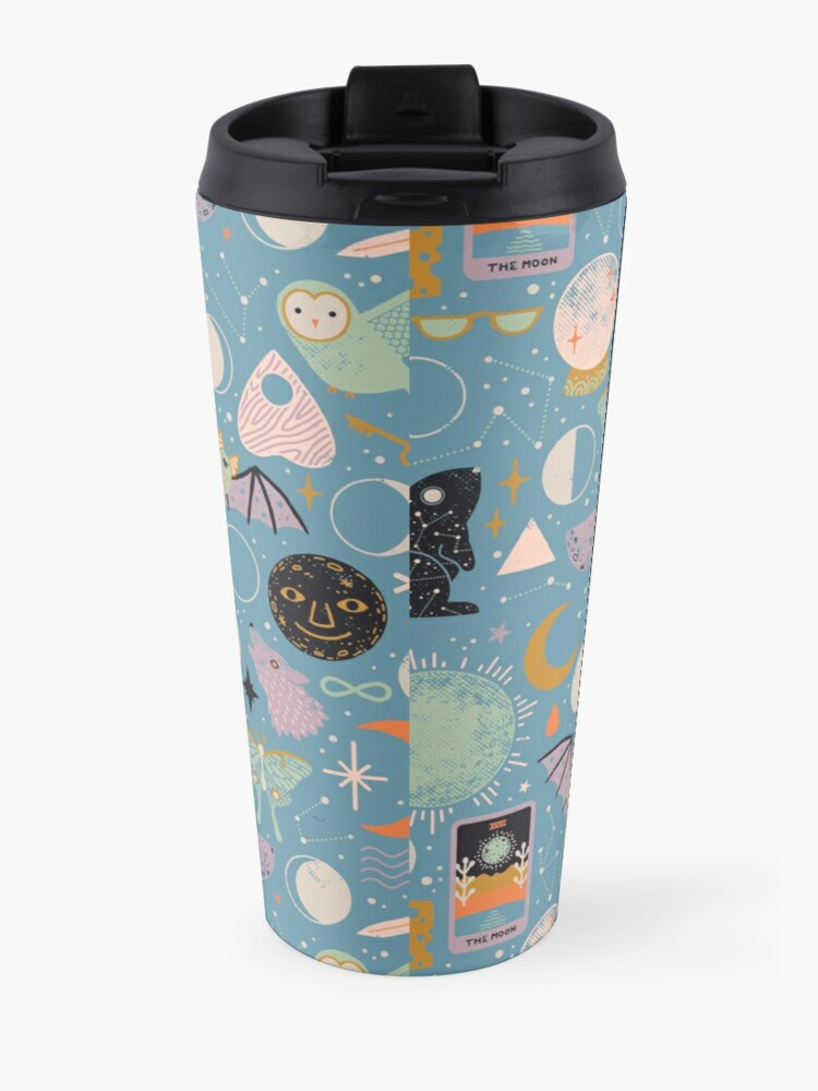 Alternate view of Lunar Pattern: Blue Moon Travel Mug