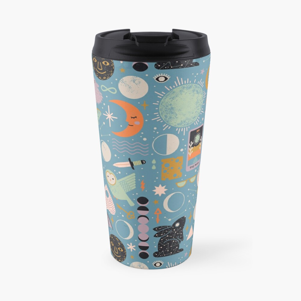 Lunar Pattern: Blue Moon Travel Mug