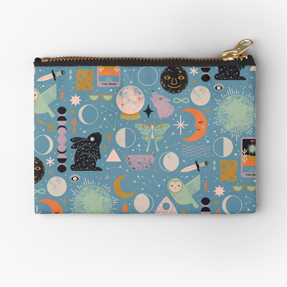 Lunar Pattern: Blue Moon Zipper Pouch