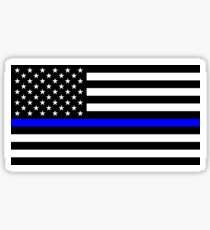Blue Lives Matter American Flag Sticker