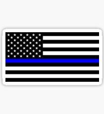 Blue Lives Matter American Flag Sticker