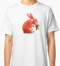 Red Rabbit Catches Bear Classic T-Shirt