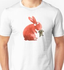 Red Rabbit Catches Bear T-Shirt