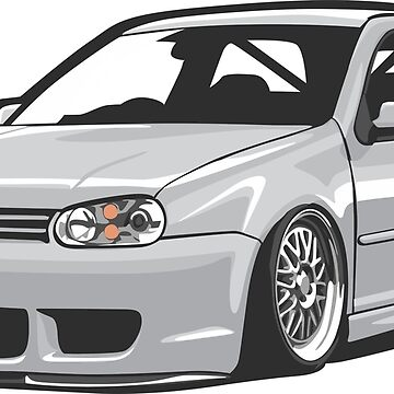 Stanced out Golf MK4 Gray by StickerNation