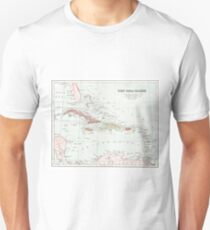 Vintage Map of West Indies T-Shirt