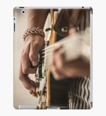 Guy's hands playing guitar iPad Case/Skin