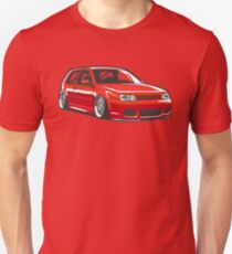 Stanced out Golf MK4 Red Unisex T-Shirt