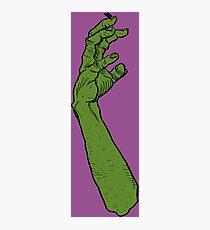 Zombie Green Hand Photographic Print