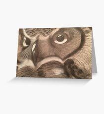 Owl - Warm Greeting Card