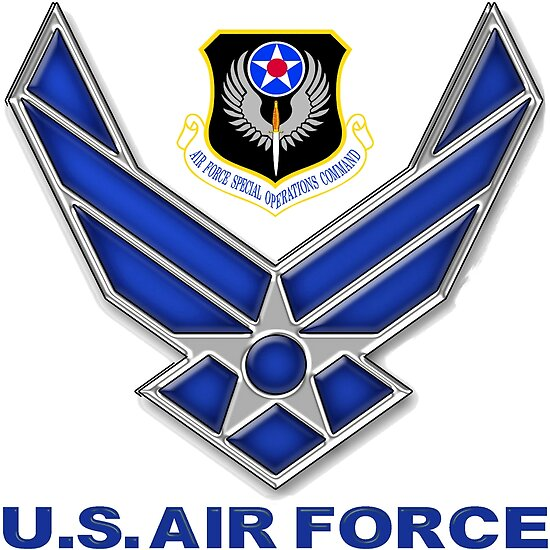 Afsoc Crest With The Air Force Symbol Posters By Spacestuffplus