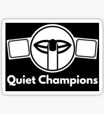 Quiet Champions Logo Sticker