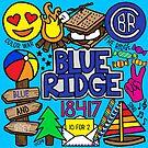 Blauer Rücken von Corey Paige Designs