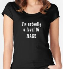 I'm Actually A Level Ten Mage Tee Women's Fitted Scoop T-Shirt