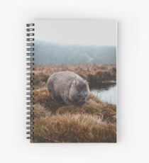 Tasmanian Wombat Spiral Notebook