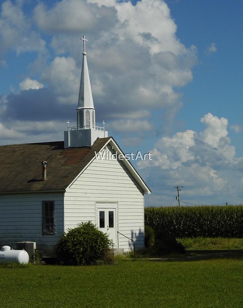 Church In The Cornfield by WildestArt