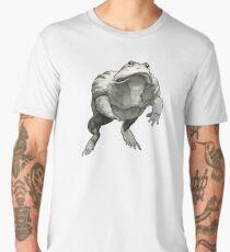 African Bullfrog Black and White Ink Drawing Men's Premium T-Shirt