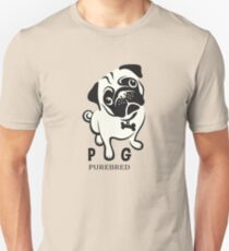 pug purebred - cute pug cartoon T-Shirt