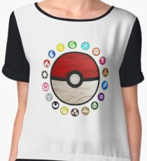 Pokemon Pokeball Chiffon Top