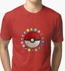 Pokemon Pokeball Tri-blend T-Shirt
