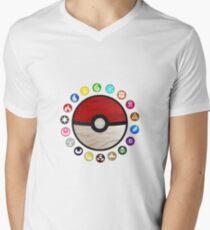 Pokemon Pokeball Men's V-Neck T-Shirt