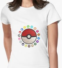 Pokemon Pokeball Women's Fitted T-Shirt