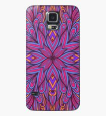 Pink and blue floral ornament Case/Skin for Samsung Galaxy