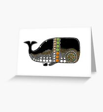 Retro Whale Migration Greeting Card