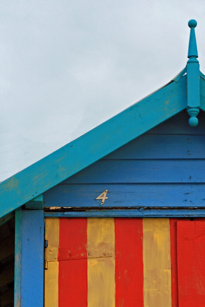 Beach Hut No. 4, Mornington by Leigh Penfold