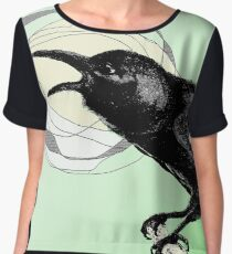 The Crow from Manitoulin Island Women's Chiffon Top